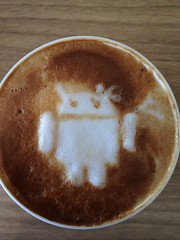 Today's latte, Android girl!