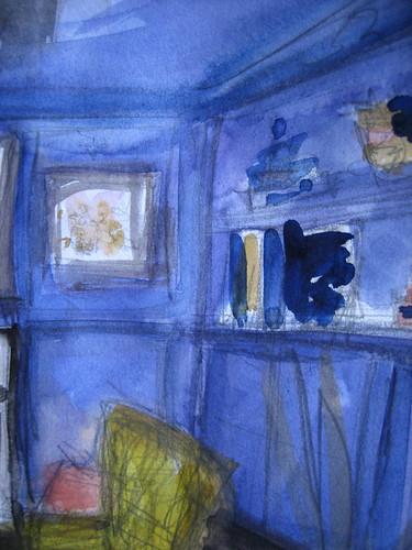 Blue Violet Library Corner