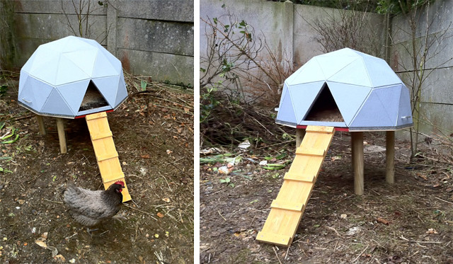 geodesic dome chicken coop