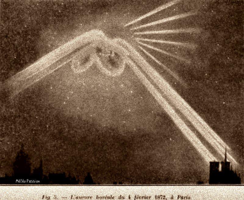 aurore boréale du 4 février 1872 à Paris météopassion