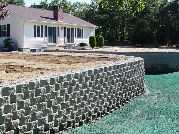 Landscape Block Wall Systems : Retaining wall system blocks stone mason