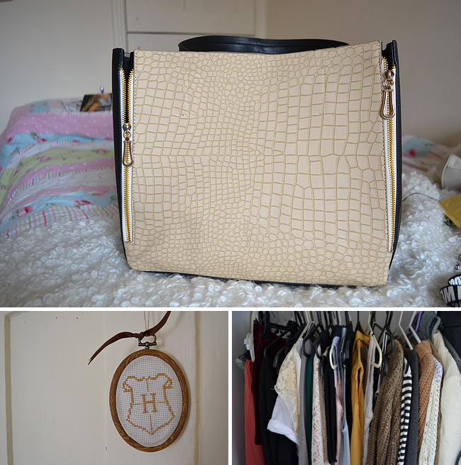daisybutter - UK Style Blog: week in photos, romwe, celine esque bag, inside my wardrobe, daisybutter, hufflepuff crest, pottermore