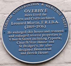 Photo of Leonard Martin blue plaque