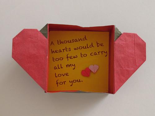 Коробочка из бумаги с сердечком своими руками 26