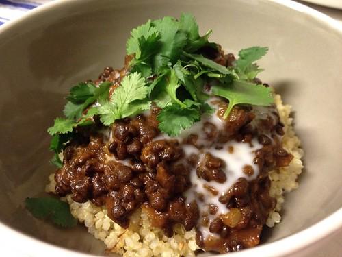 Black lentils 1