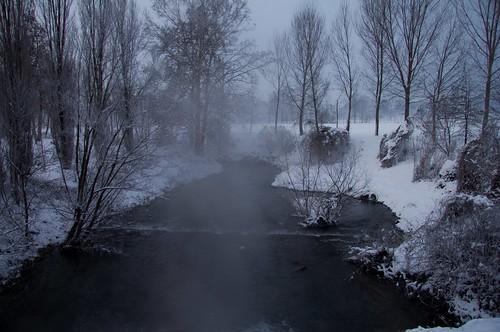 winter snow water river landscapes campagna neve acqua inverno paesaggi lombardia lodi pianura torrente lodigiano padana mat56 livraga cademazzi