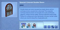 Spanish Colonial Double Doors