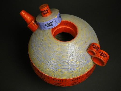 Ticket Roll Teapot - detail