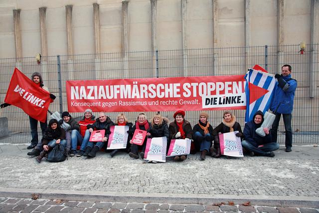 Probesitzen vor der Sächsischen Landesvertretung in Berlin