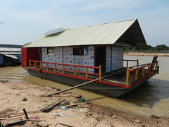 Solar Panels on the Cambodian Floating Health Clinic