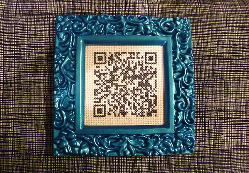 Cross Stitched QR code