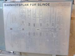 Bahnhofsplan für Blinde (Hannover)