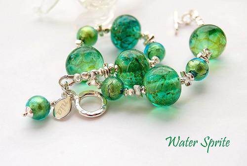 Water Sprite Bracelet by gemwaithnia