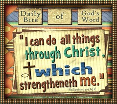 through Christ, which strengthens me
