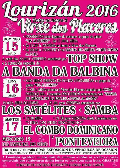 Lourizán 2016 - Festas da Virxe de Placeres - cartel