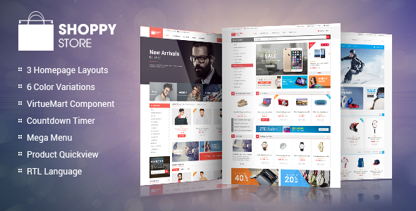 ShoppyStore v1.1.0 – Responsive VirtueMart 3 Template