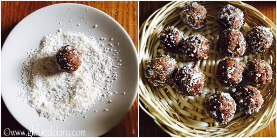 Dates Almond Balls Recipe for Babies, Toddlers and Kids - step 5