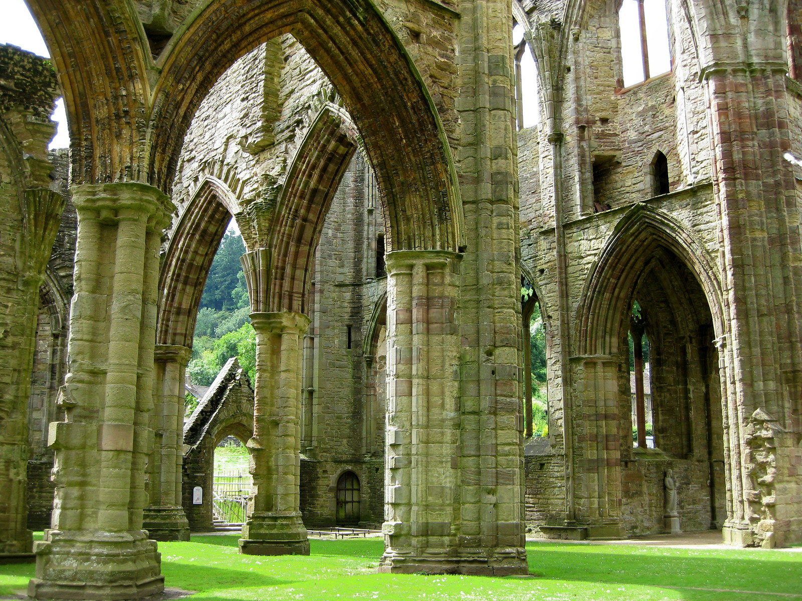 Tintern Abbey east end columns. Credit NotFromUtrecht