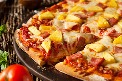 Homemade Pineapple and Ham Hawaiian Pizza