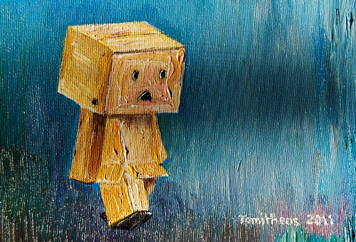 Danboard walking in the rain º°`°º¤ø,¸¸, by Tomitheos