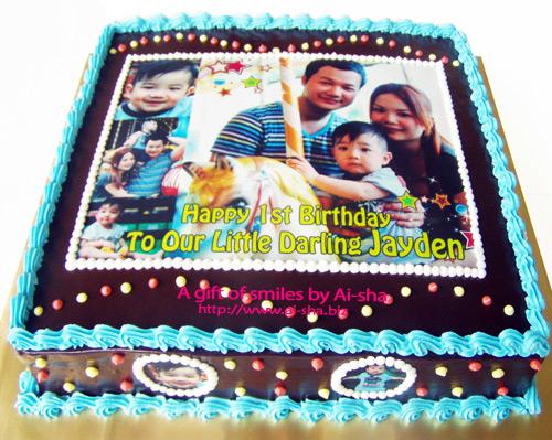 1st Birthday Cake Edible Image Family Photo
