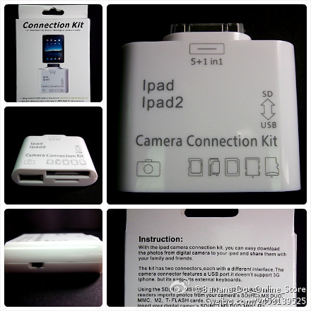 5 in 1 Camera Connection Kit Card Reader For iPad iPad 2.