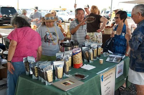 Kona Coffee sampling & vendor at Kona Coffee Festival