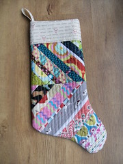 Quilted stocking front