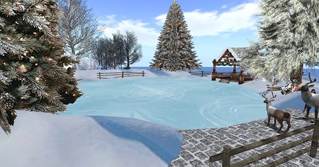 Natural Iceskating Rink with Christmas gazebo, 1000 lindens by Cherokeeh Asteria