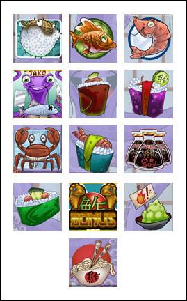 free Sushi Express slot game symbols