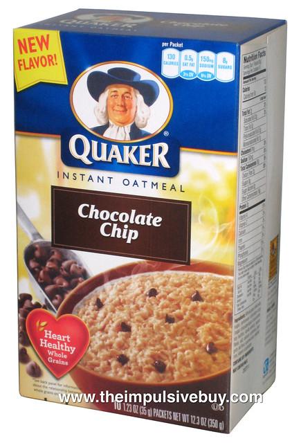 Quaker Chocolate Chip Granola Bar Calories