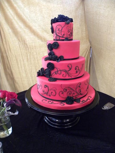 Pink And Black Wedding Cake - navigatingyourmove.co - Best Resume ...
