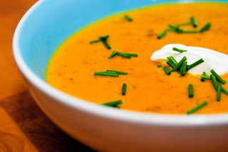Butternut Squash Soup With Sweet Italian Sausage