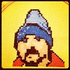 @zeldman blue beanie cross-stitch for #bbd11