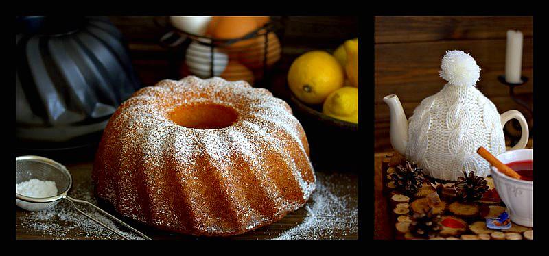 Zitronenkuchen mit Früchtetee