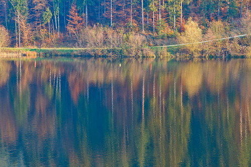 autumn lake reflection fall water colors colours slovenia slovenija gradisce