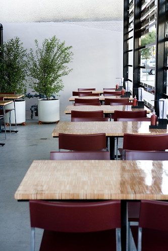 the patio at TAKE A BAO studio city by TAKE A BAO
