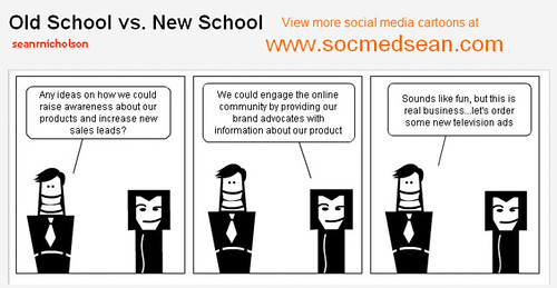 Social media pros, Social Media Comic New School vs Old School Market…