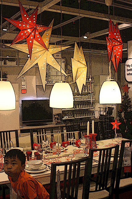 Store displays give inspiration on how to use IKEA products