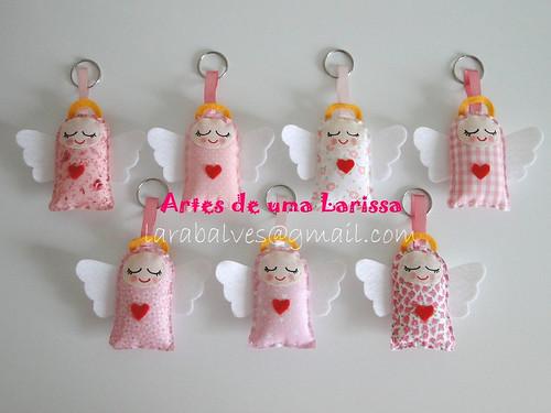 Anjinhos Rosas by Artes de uma Larissa
