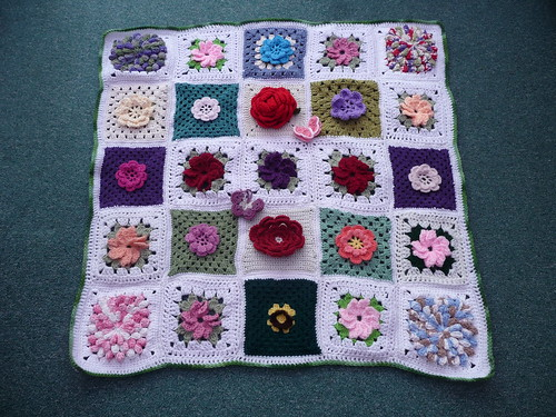 Thanks to all the Ladies who contribute Squares to this Flower Blanket. They are gorgeous!