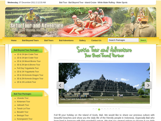 Bali Setia Tour and Adventure - Bali Tour, Bali Beyond Tour, Island Cruise, White Water Rafting, Water Sportse, Scuba Diving, Mountain Clumbing, Jungle Trekking, Cycling, ATV Riding, Horse Riding, Bungy Jumping, and Massage and Spa
