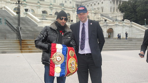 Amir Khan was welcomed to D.C. by British Deputy Ambassador, Philip Barton