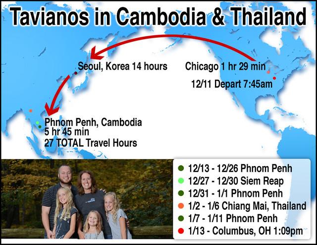 Tavianos in Cambodia and Thailand