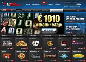 10Bet Casino Lobby