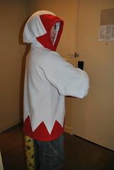 Kane borrows my White Mage hoodie