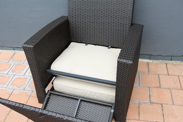All Weather Wicker Bistro Chair With Cushion Chair Pads