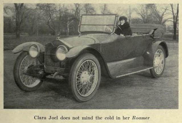 Clara Joel in her Roamer 1917
