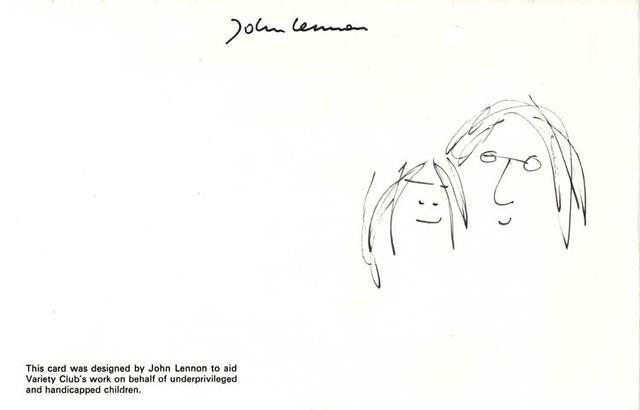 John Lennon Christmas card - inside left