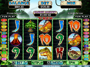 t-rex slot machine free